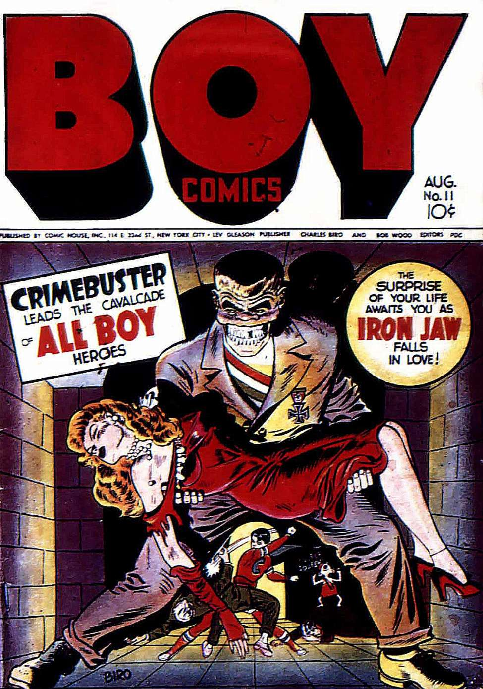 Comic Book Cover For Boy Comics #11