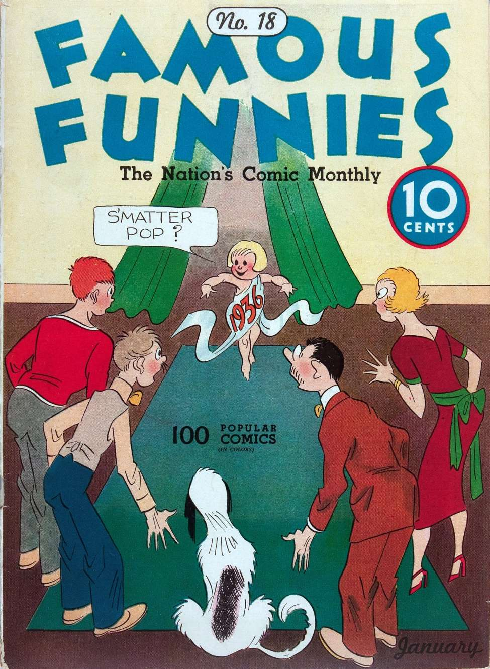 Comic Book Cover For Famous Funnies #18