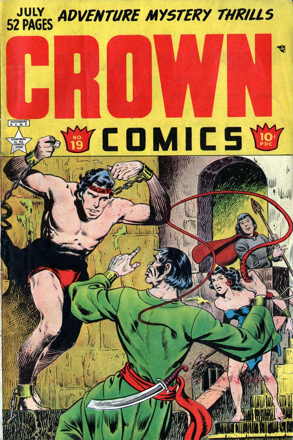 Comic Book Cover For Crown Comics #19