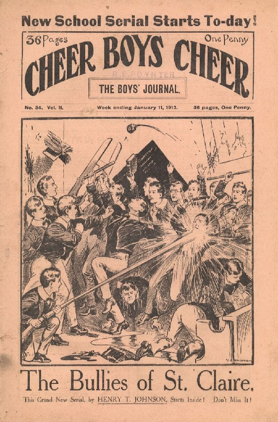 Comic Book Cover For Cheer Boys Cheer 034 - The Bullies of St. Claire part 1