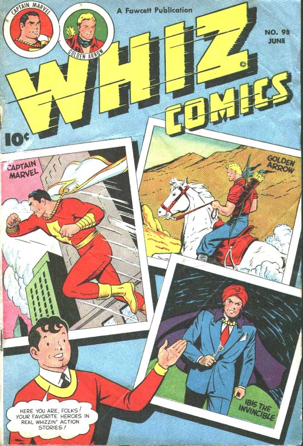 Comic Book Cover For Whiz Comics #98