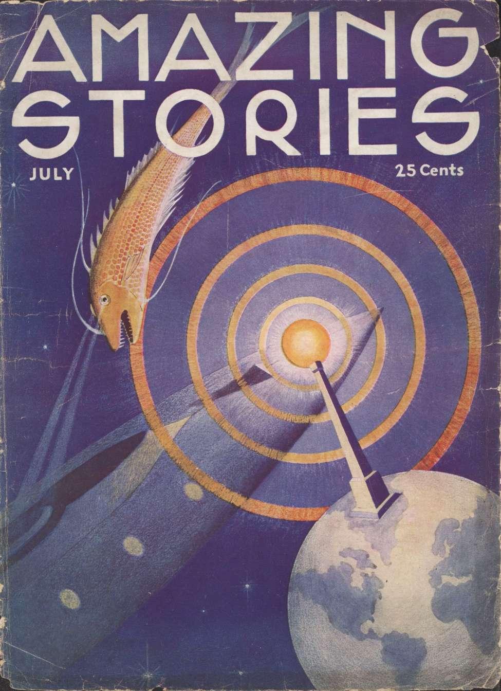 Comic Book Cover For Amazing Stories v08 04 - Hibernation - Abner J. Gelula