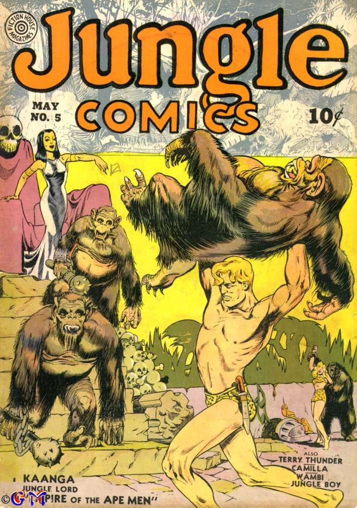 Comic Book Cover For Jungle Comics #5 - Version 1