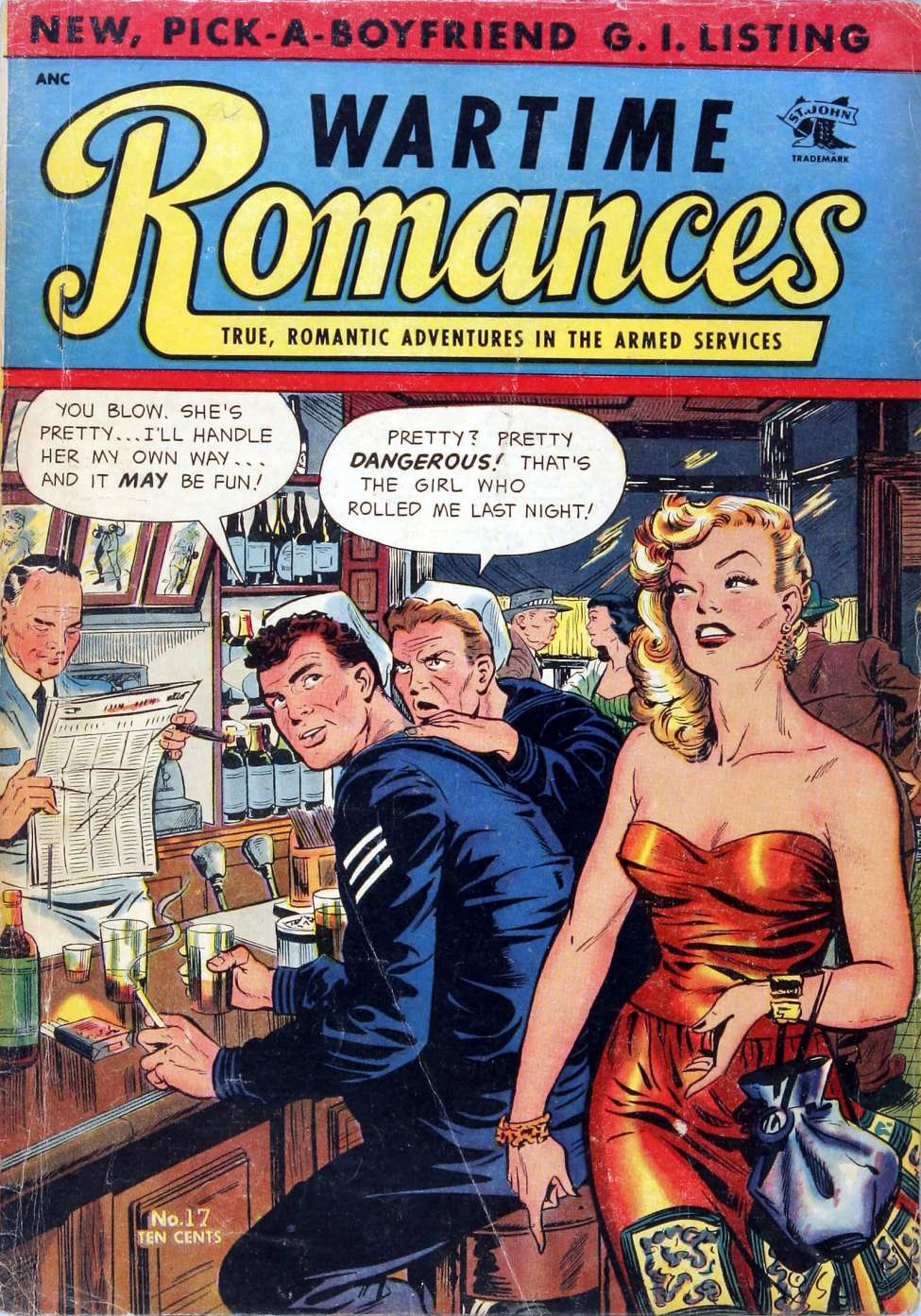 Comic Book Cover For Wartime Romances #17