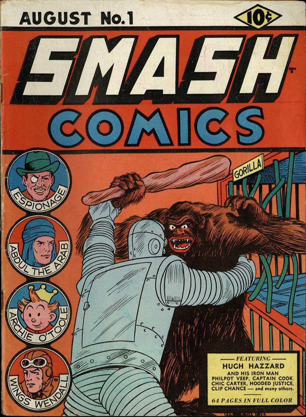 Comic Book Cover For Smash Comics #1