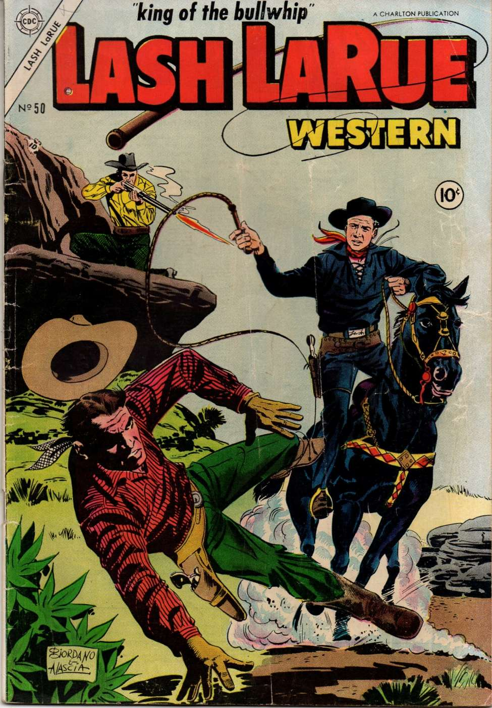 Comic Book Cover For Lash Larue Western #50