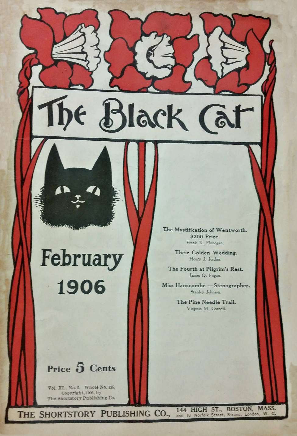 Comic Book Cover For The Black Cat 125 - The Mystification of Wentworth - Frank X. Finnegan