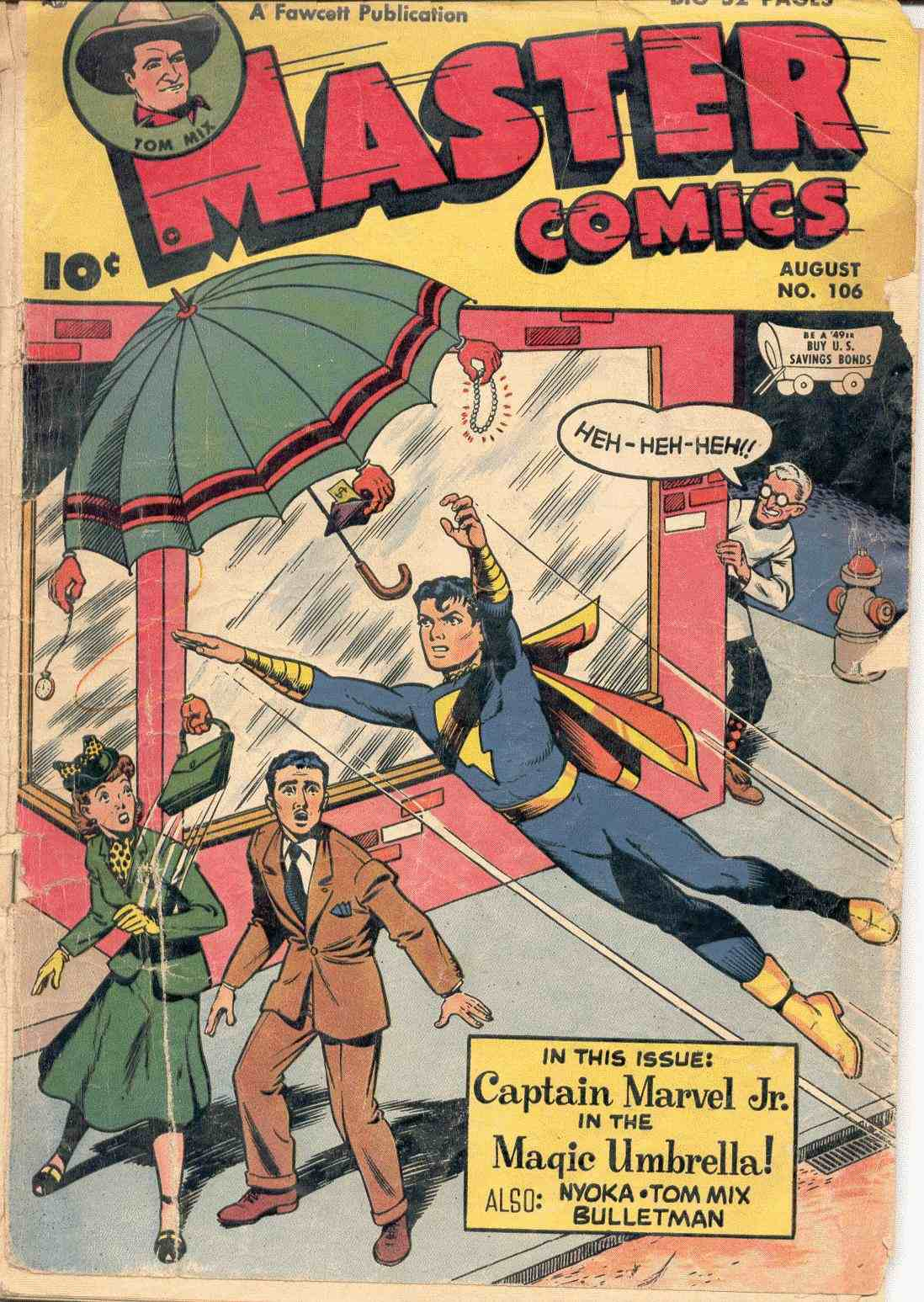 Comic Book Cover For Tom Mix stories From Fawcetts Master Comics - Volume 3