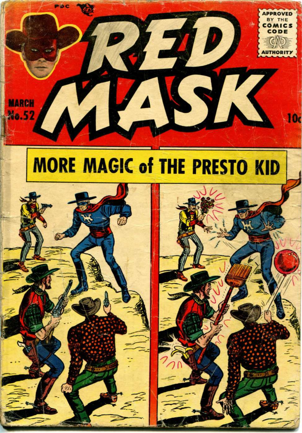 Comic Book Cover For Red Mask #52