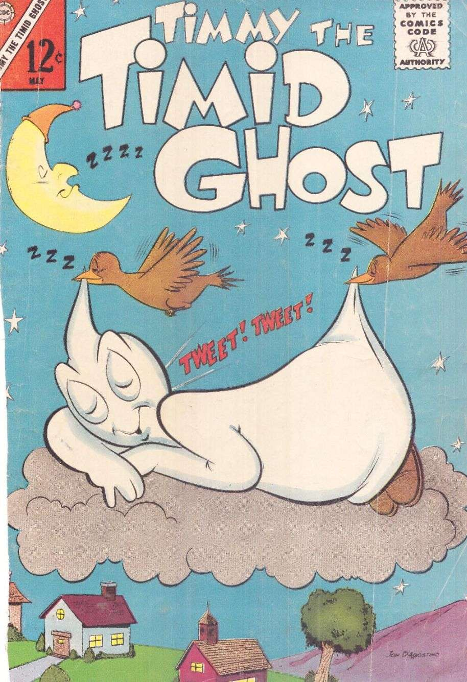 Comic Book Cover For Timmy the Timid Ghost #38