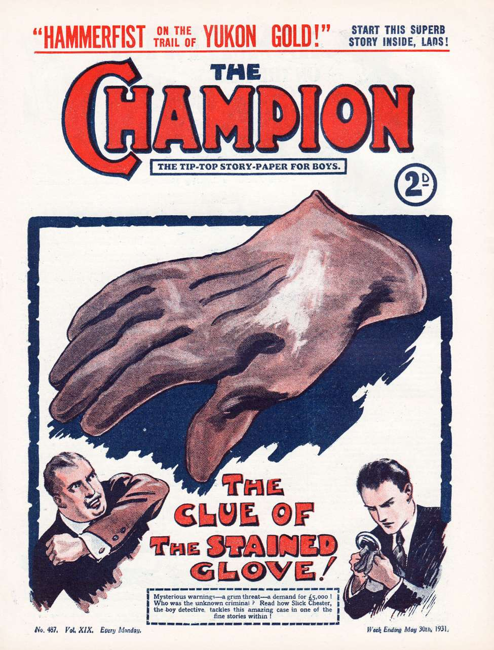 Comic Book Cover For The Champion 0487