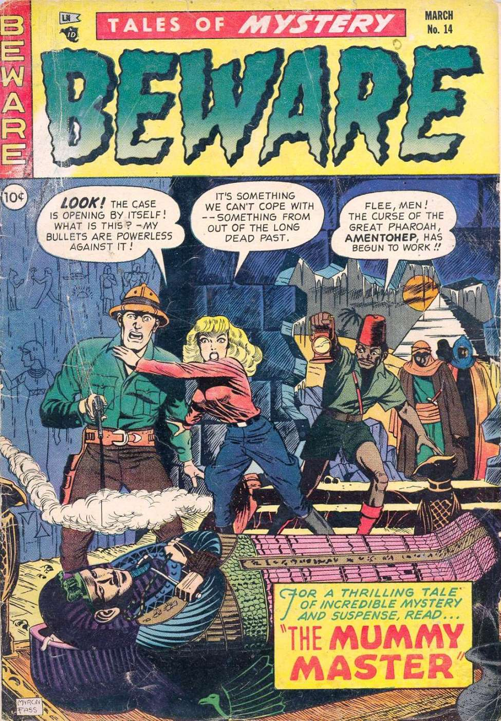 Comic Book Cover For Beware #14