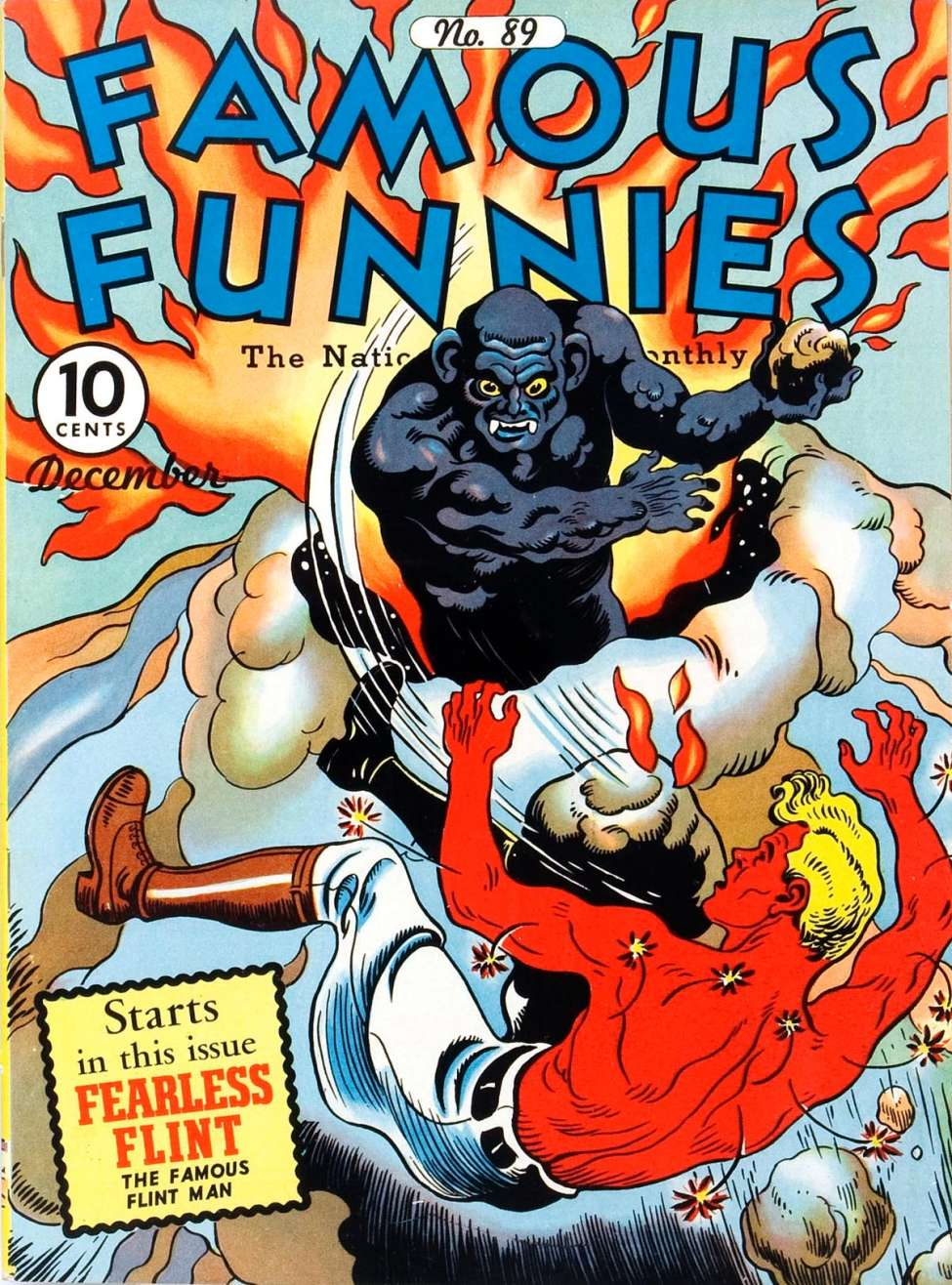 Comic Book Cover For Famous Funnies #89 - Version 2