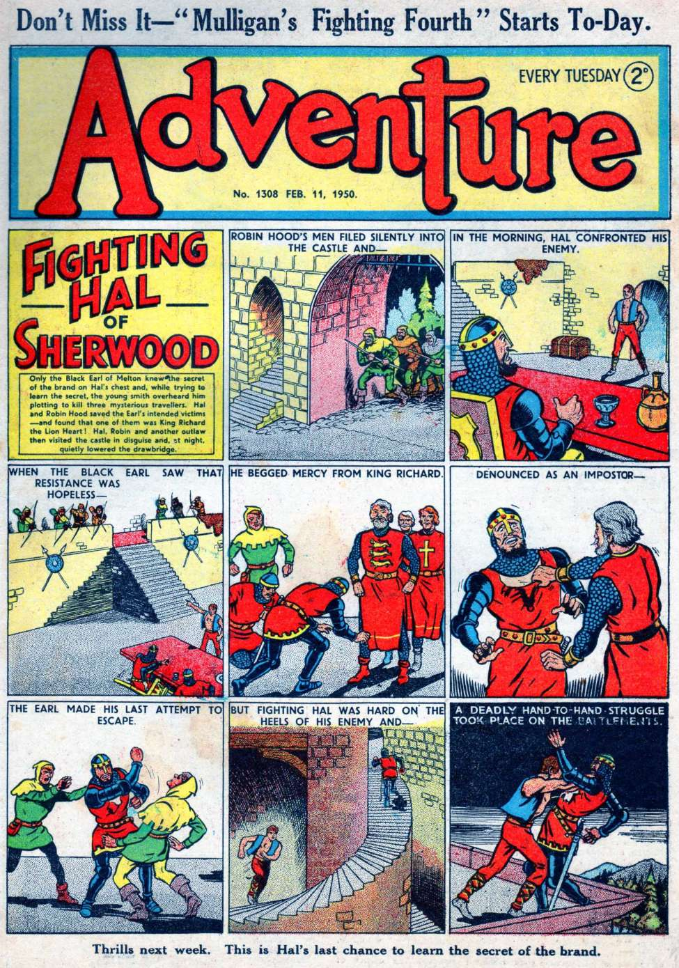 Comic Book Cover For Adventure 1308