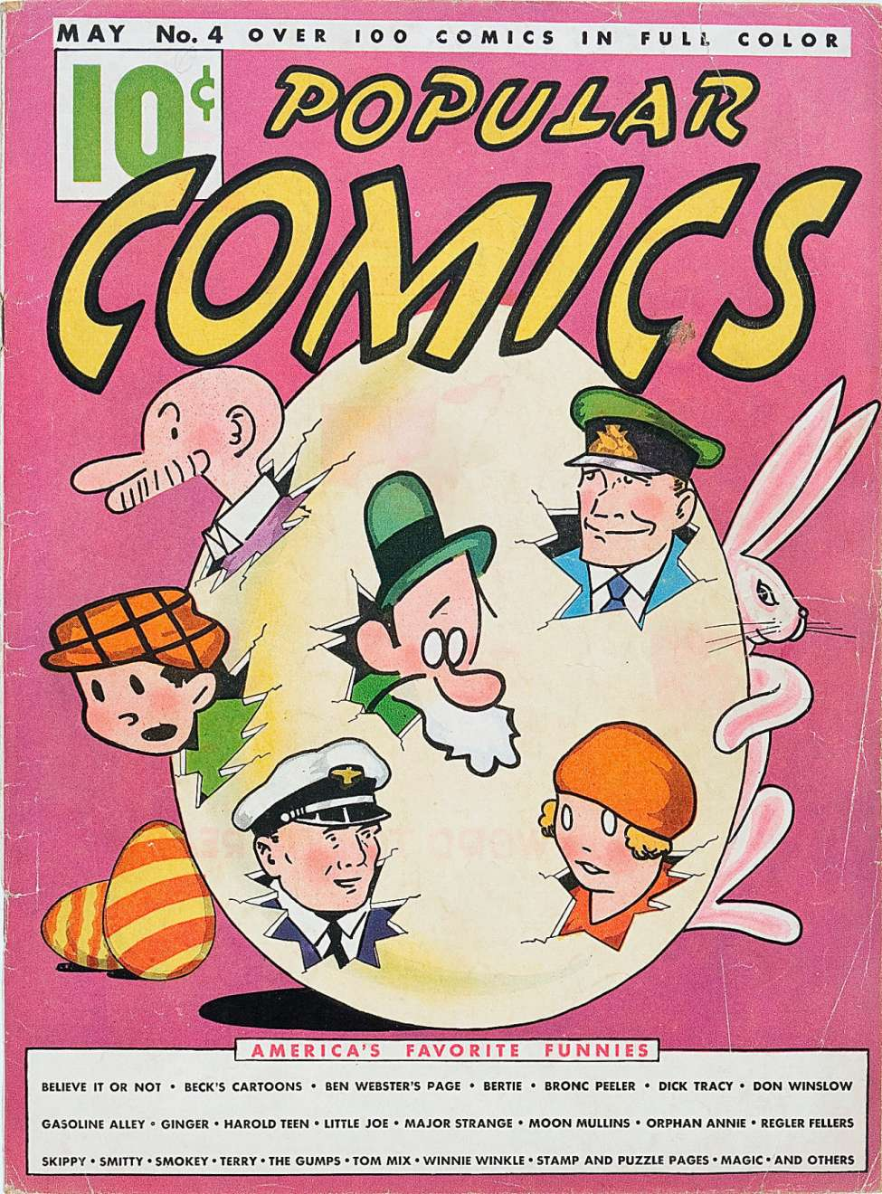 Comic Book Cover For Popular Comics #4