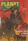 Cover For Planet Stories v4 7 Warrior Maid of Mars Alfred Coppel, Jr.