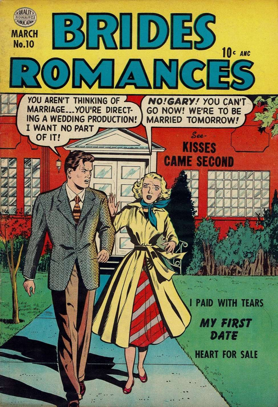 Comic Book Cover For Brides Romances #10