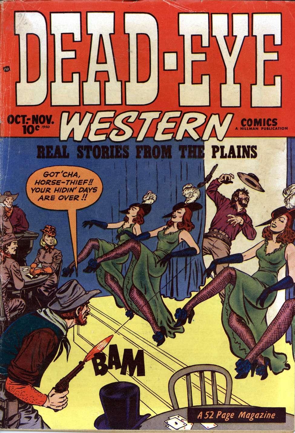 Comic Book Cover For Dead-Eye Western Comics v1 #12