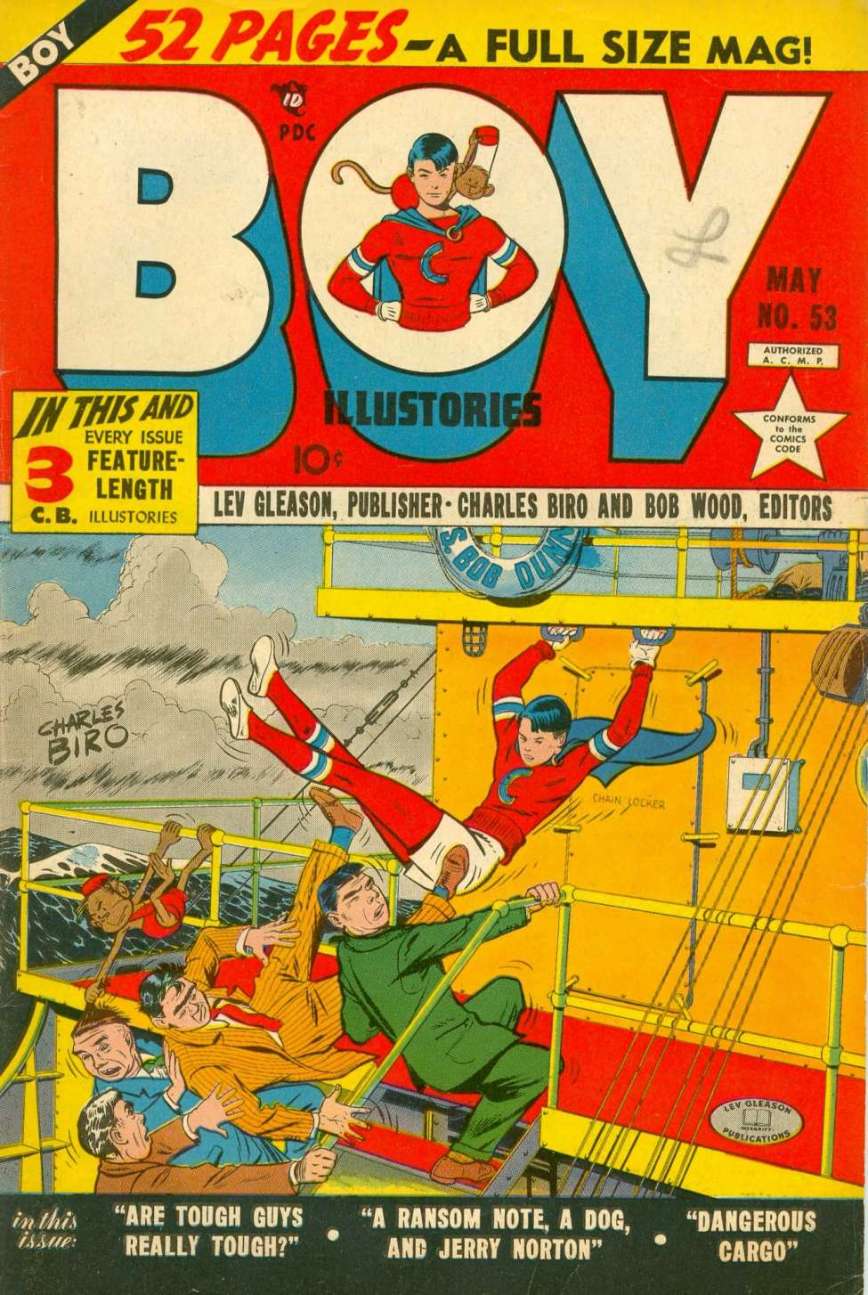 Comic Book Cover For Boy Comics #53
