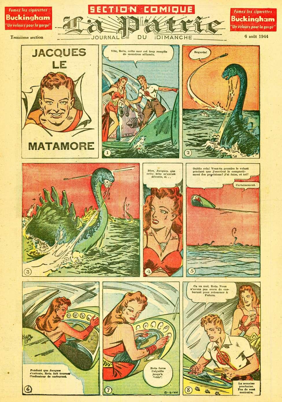 Comic Book Cover For La Patrie - Section Comique (1944-08-06)