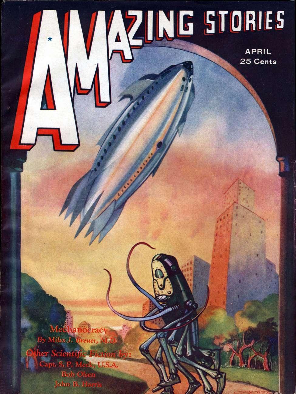 Comic Book Cover For Amazing Stories v07 01 - Seven Sunstrokes - Bob Olsen