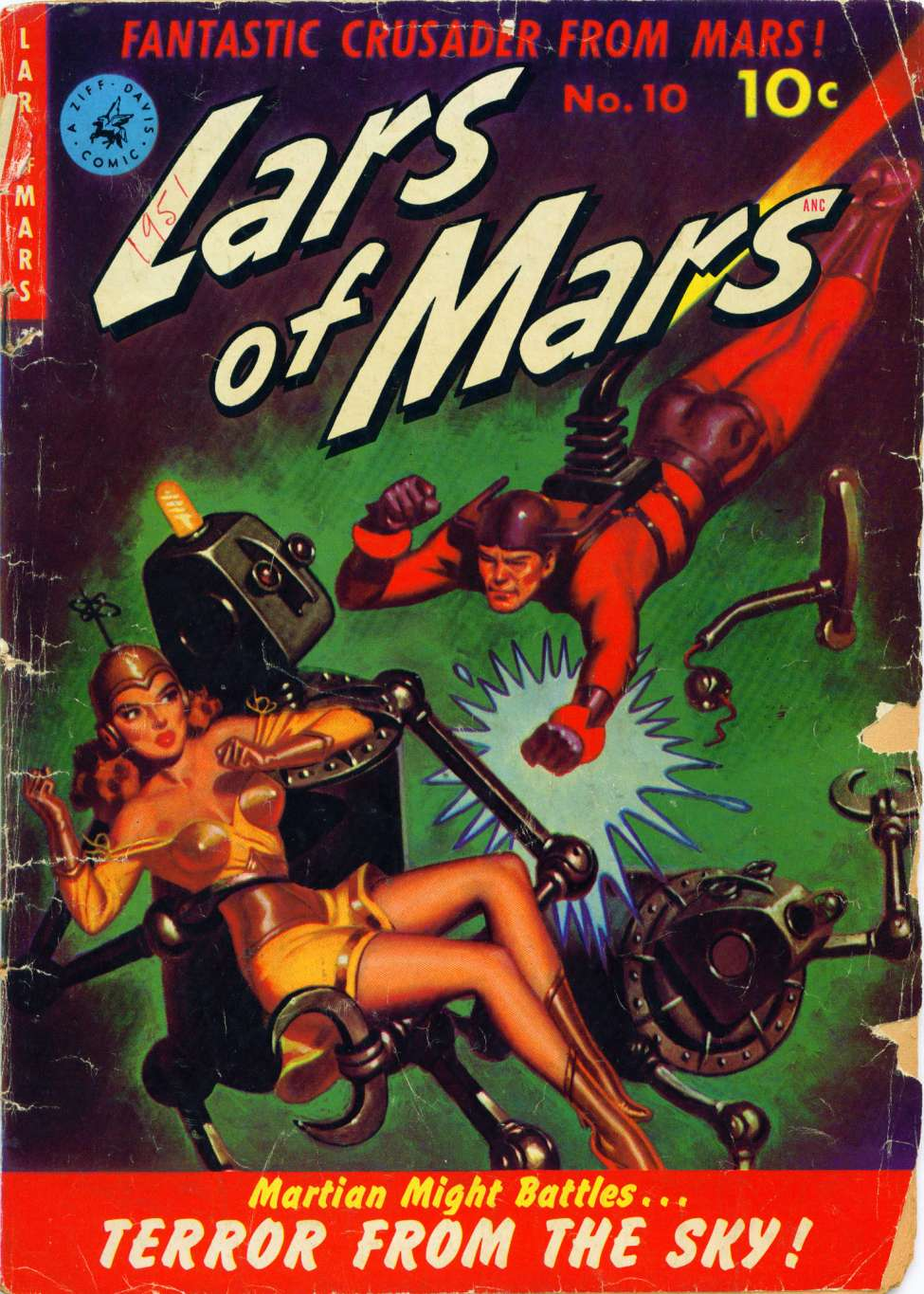 Comic Book Cover For Lars of Mars #10