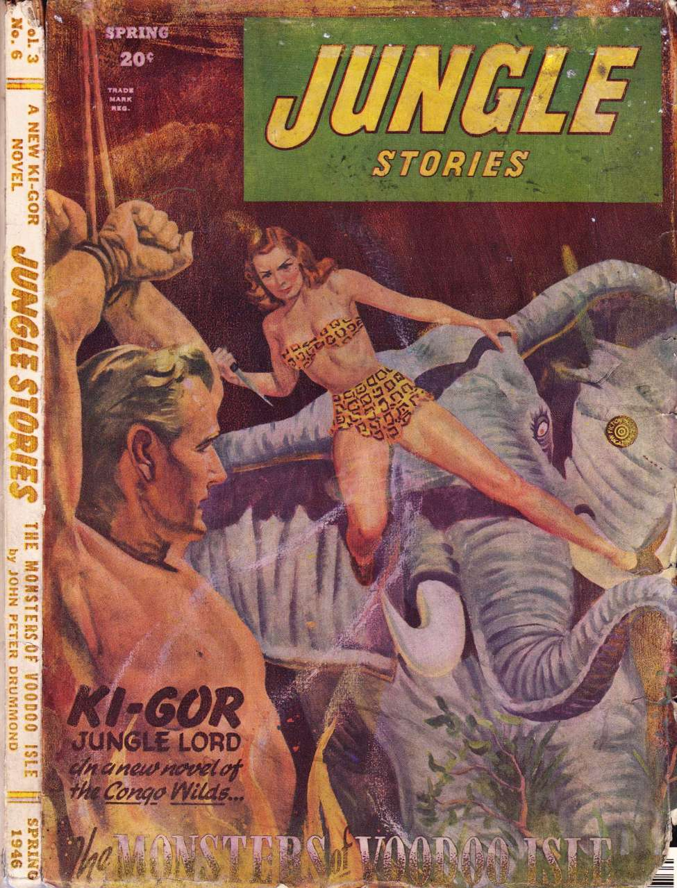Comic Book Cover For Jungle Stories v3 06