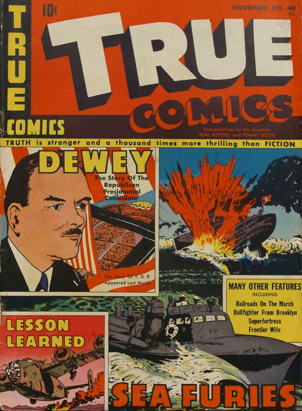 Comic Book Cover For True Comics #40