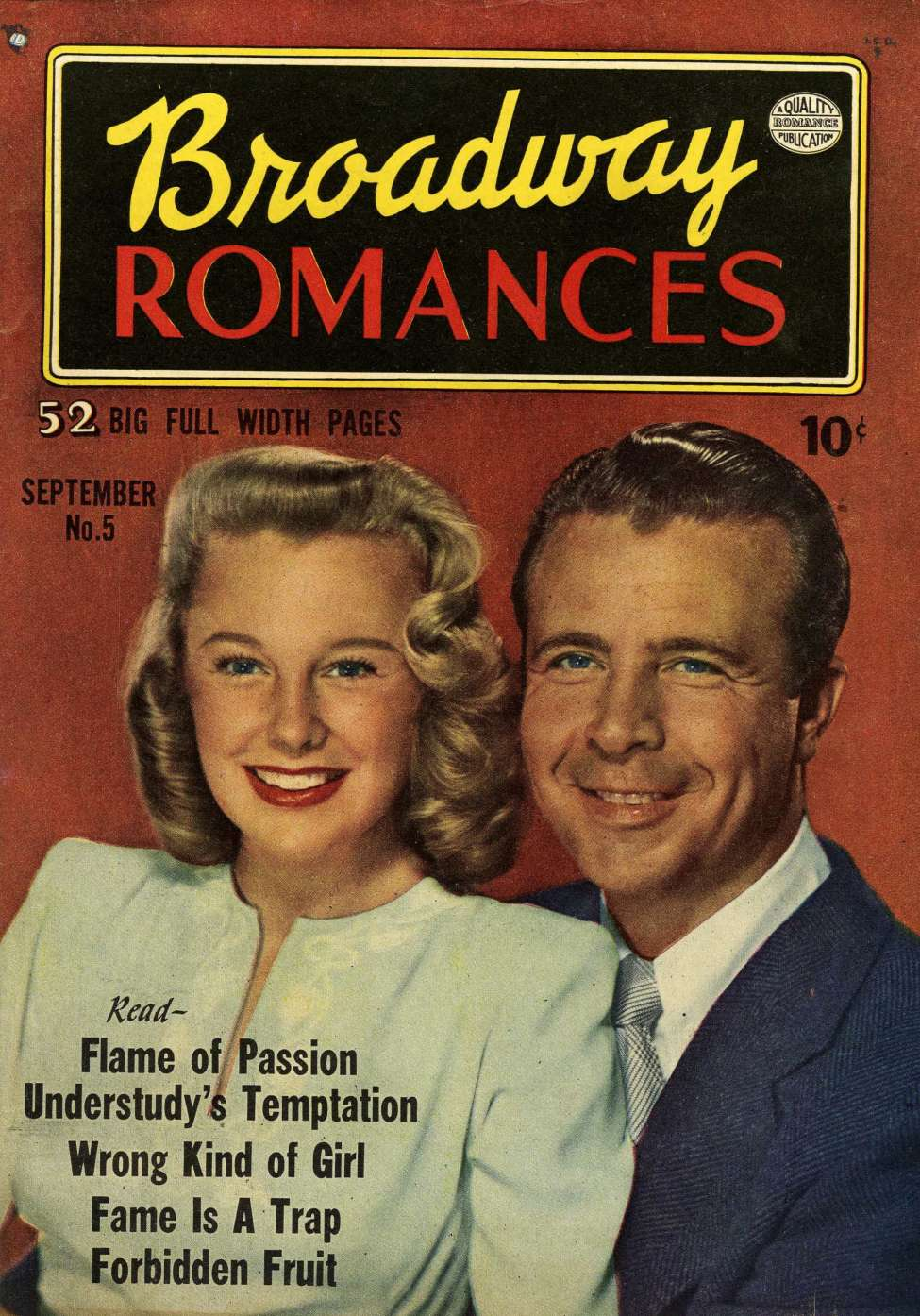 Comic Book Cover For Broadway Romances #5