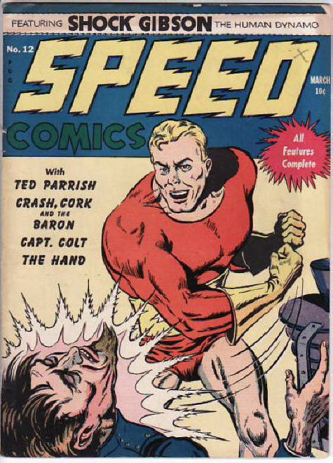 Comic Book Cover For Speed Comics #12