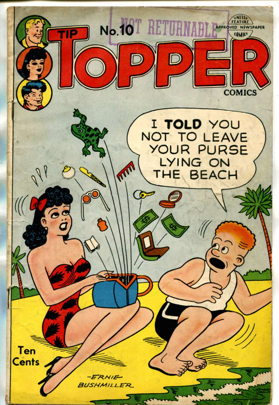 Comic Book Cover For Tip Topper Comics 10