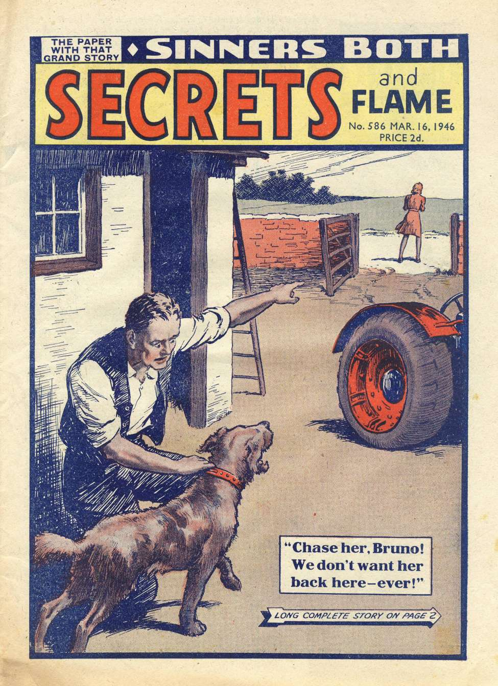 Comic Book Cover For Secrets and Flame 586