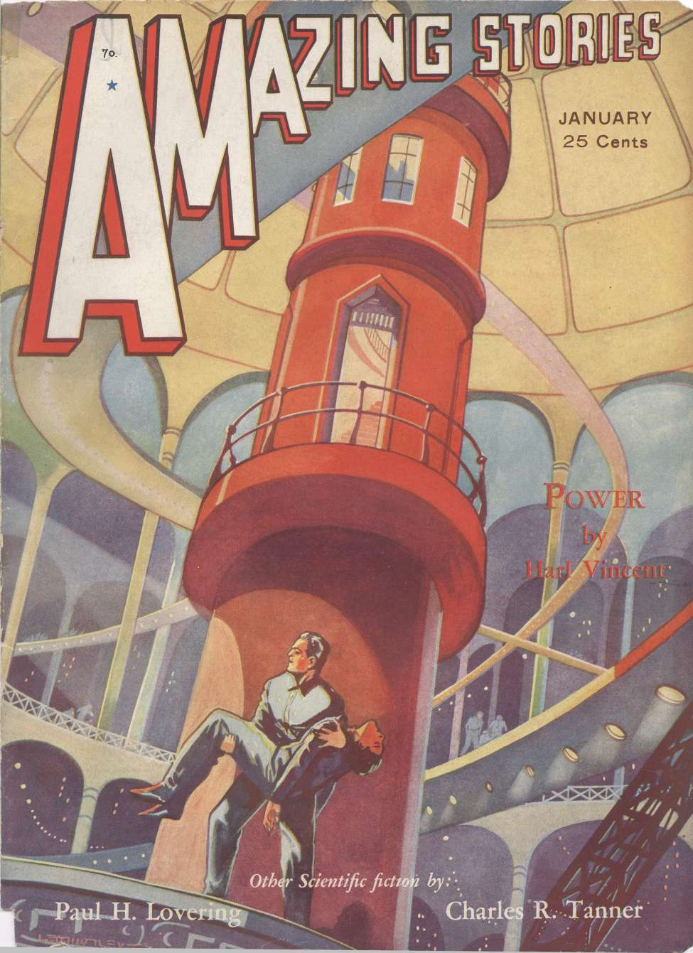 Comic Book Cover For Amazing Stories v06 10 - Tumithak of the Corridors - Charles R. Tanner