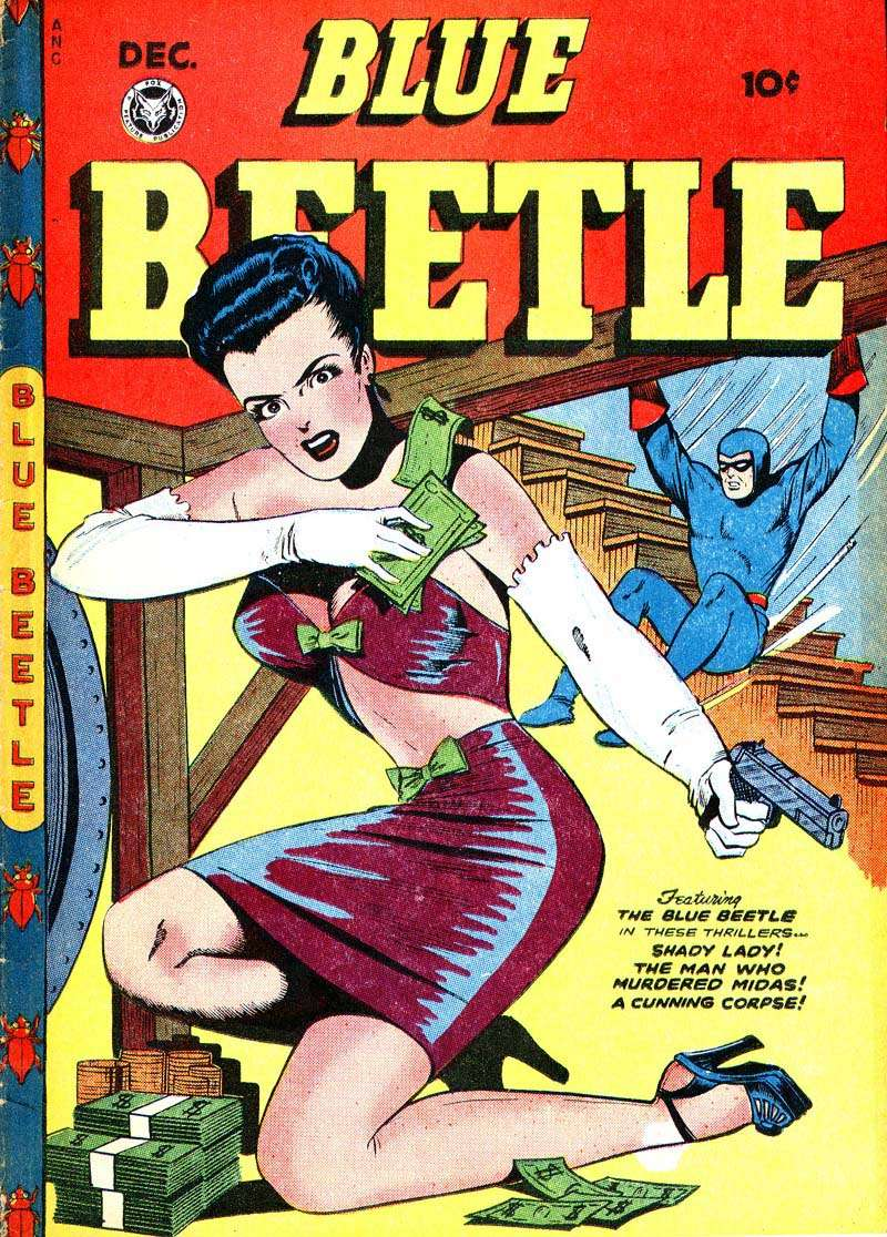 Comic Book Cover For Blue Beetle #51