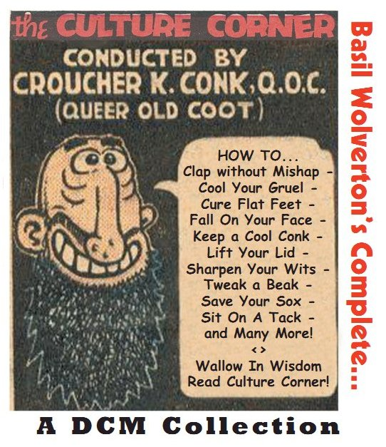 Comic Book Cover For Culture Corner by Basil Wolverton, The Complete (Fawcett)