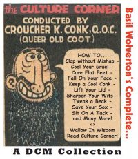 Large Thumbnail For Culture Corner by Basil Wolverton, The Complete (Fawcett)