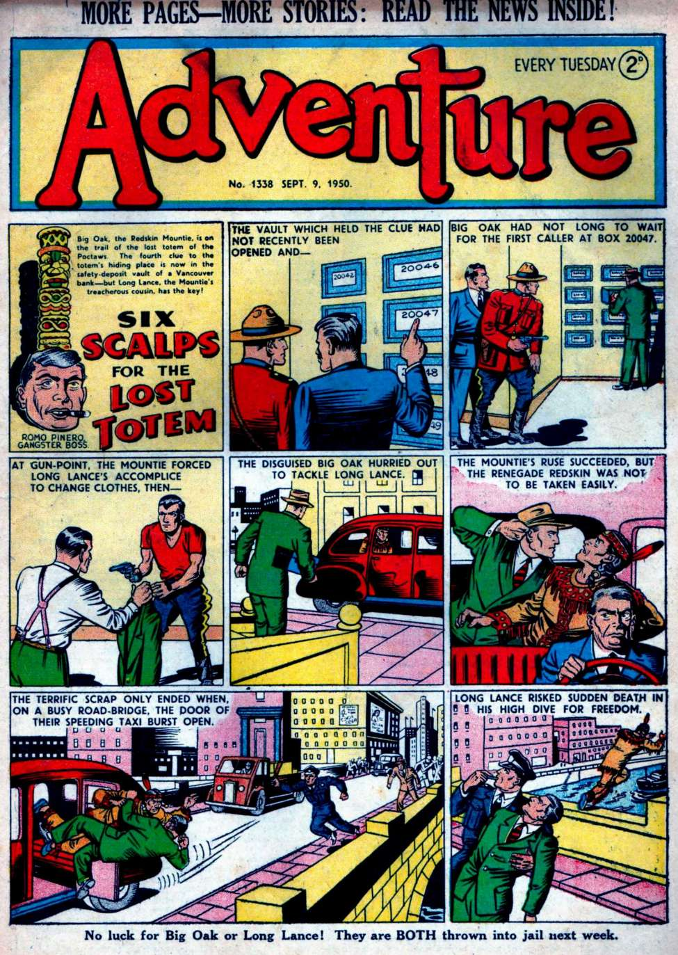 Comic Book Cover For Adventure #1338