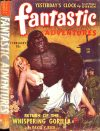 Cover For Fantastic Adventures v5 2 Return of the Whispering Gorilla David V. Reed