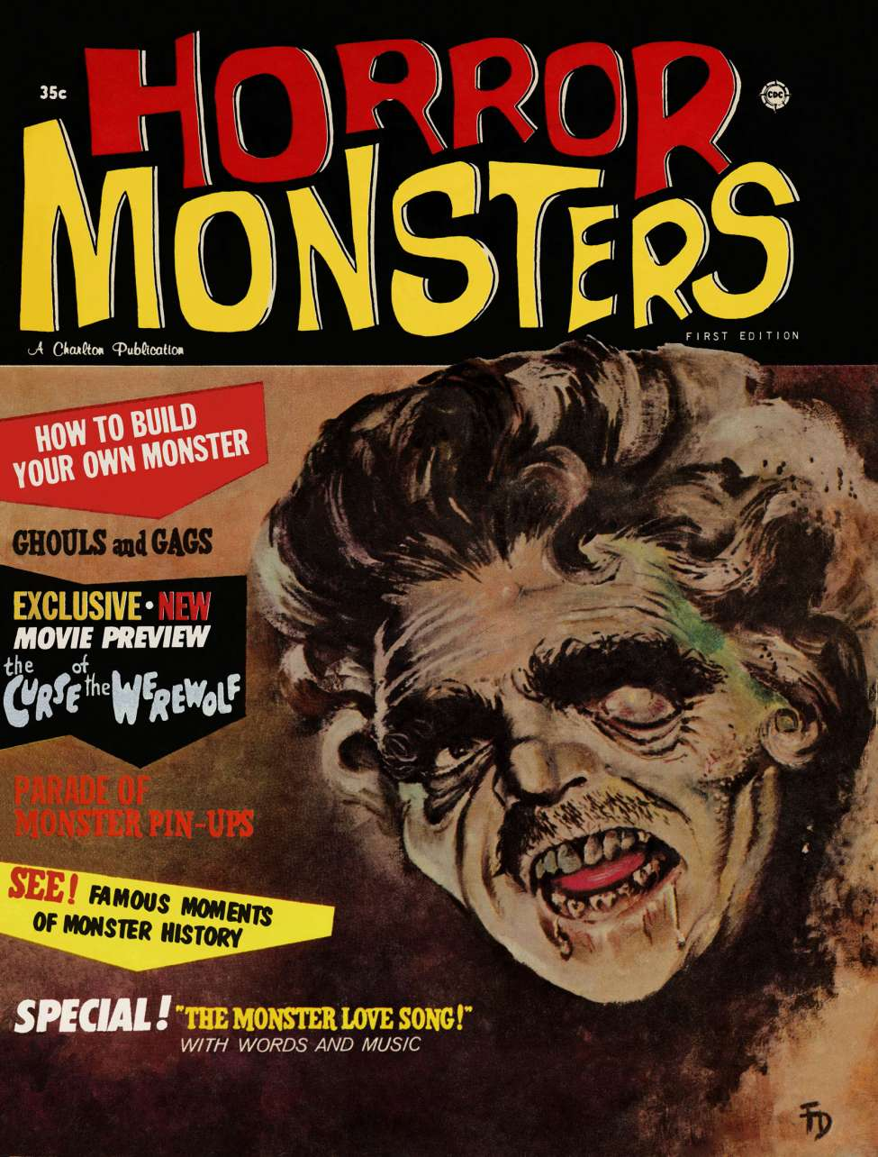 Comic Book Cover For Horror Monsters v01 01
