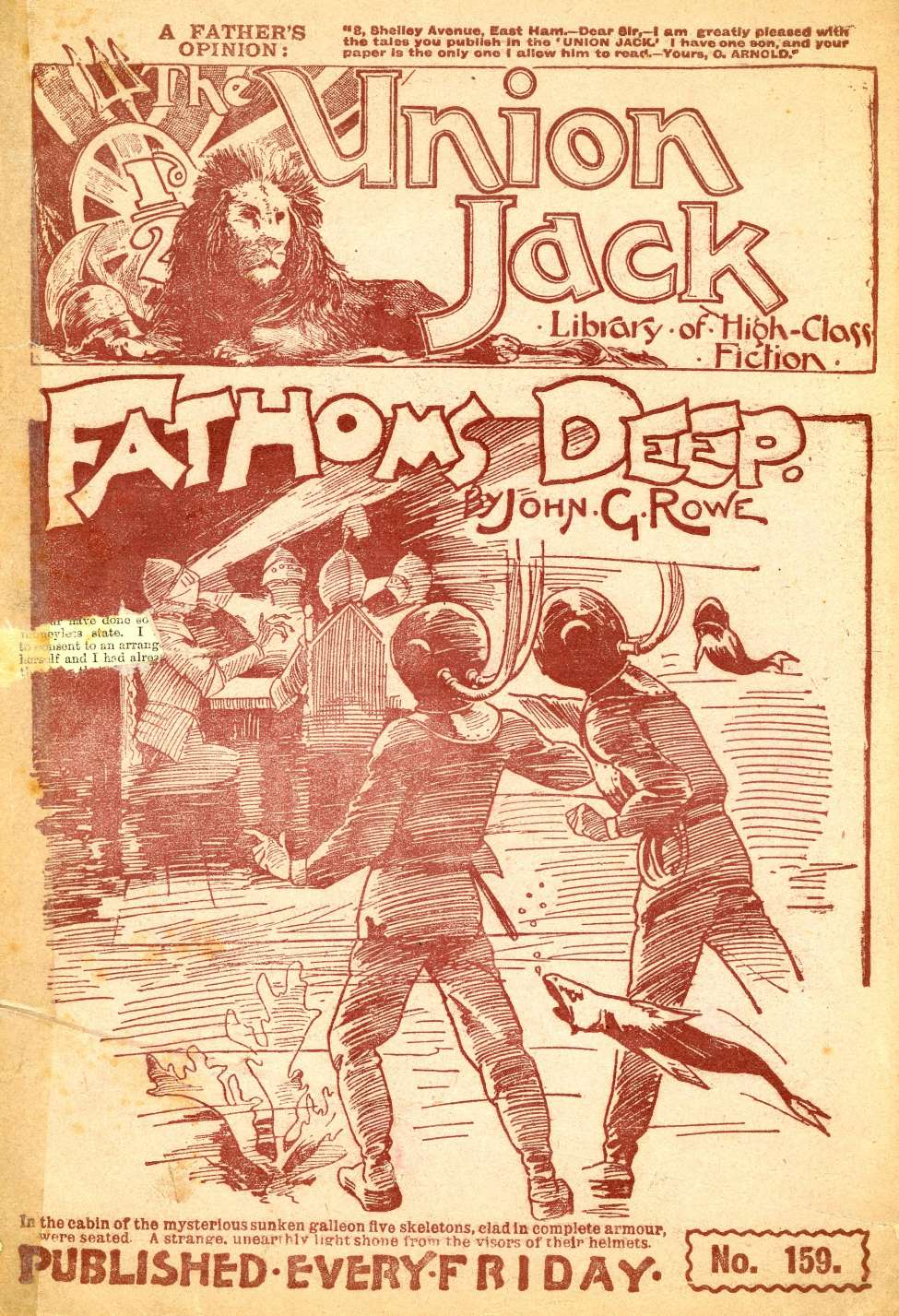 Comic Book Cover For The Union Jack 159 - Fathoms Deep