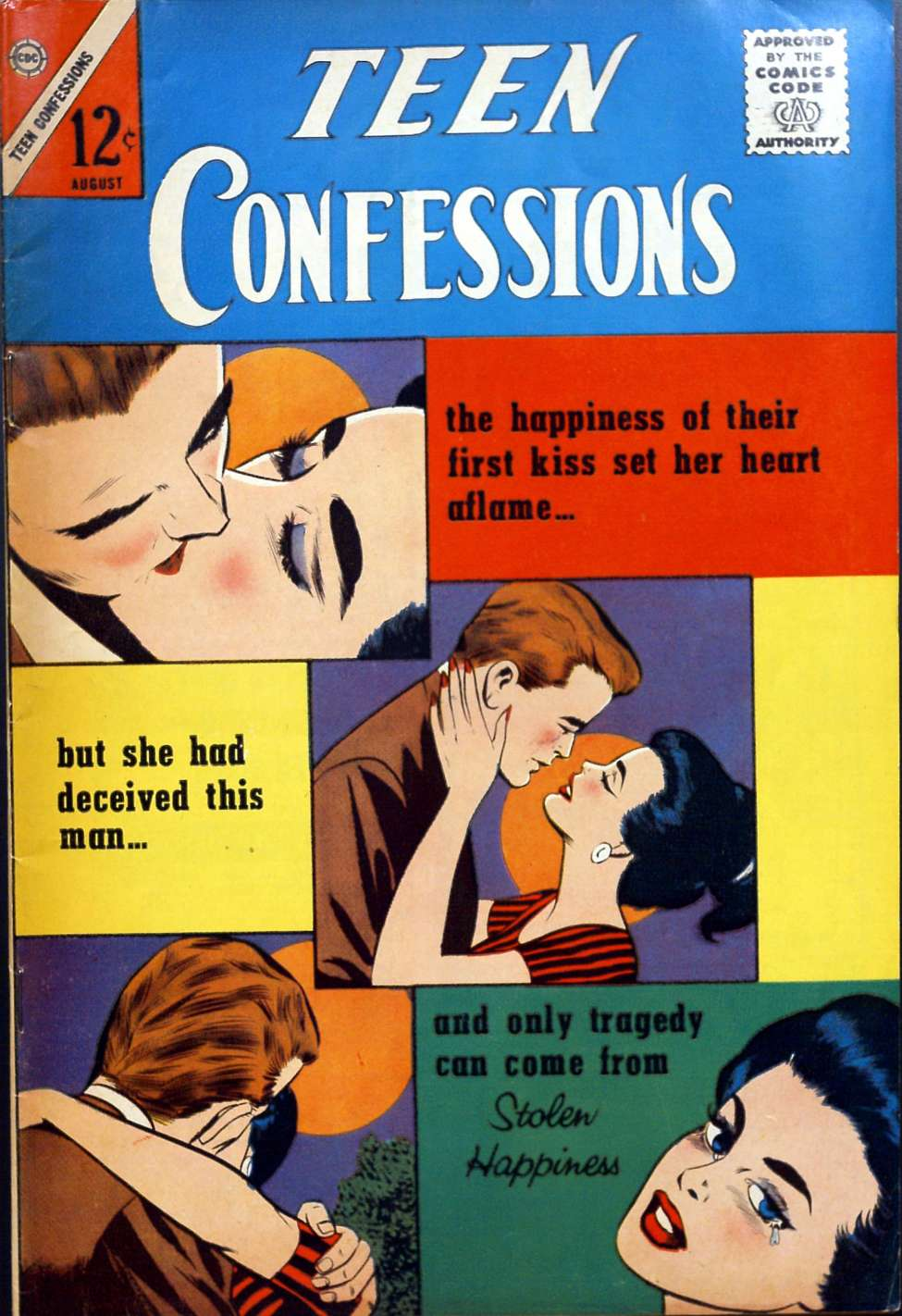 Comic Book Cover For Teen Confessions #24