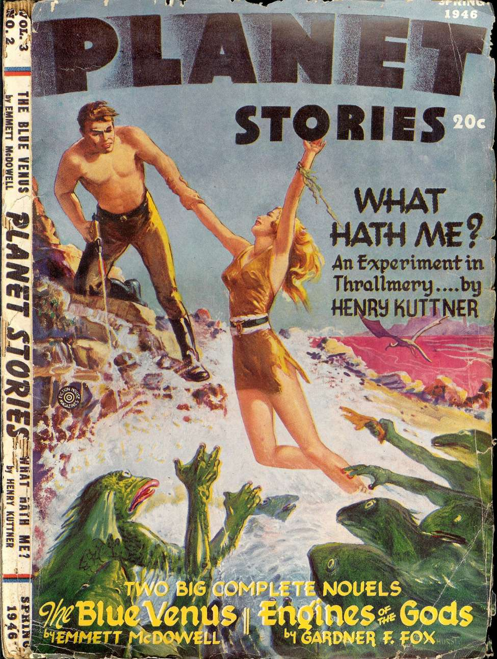 Comic Book Cover For Planet Stories v03 02 - The Blue Venus - Emmett McDowell