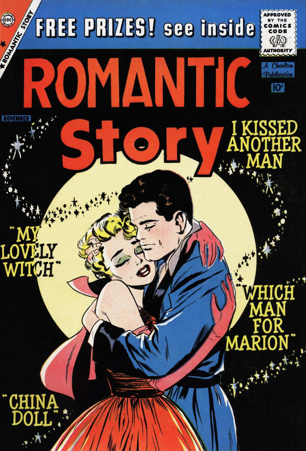 Comic Book Cover For Romantic Story #46