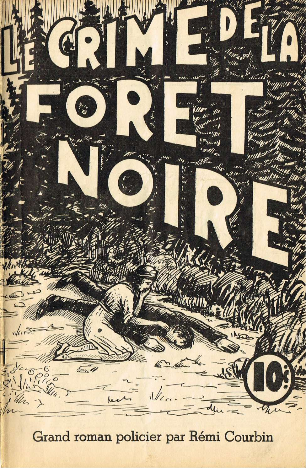 Comic Book Cover For Albert Brien 16 - Le crime de la fôret noire