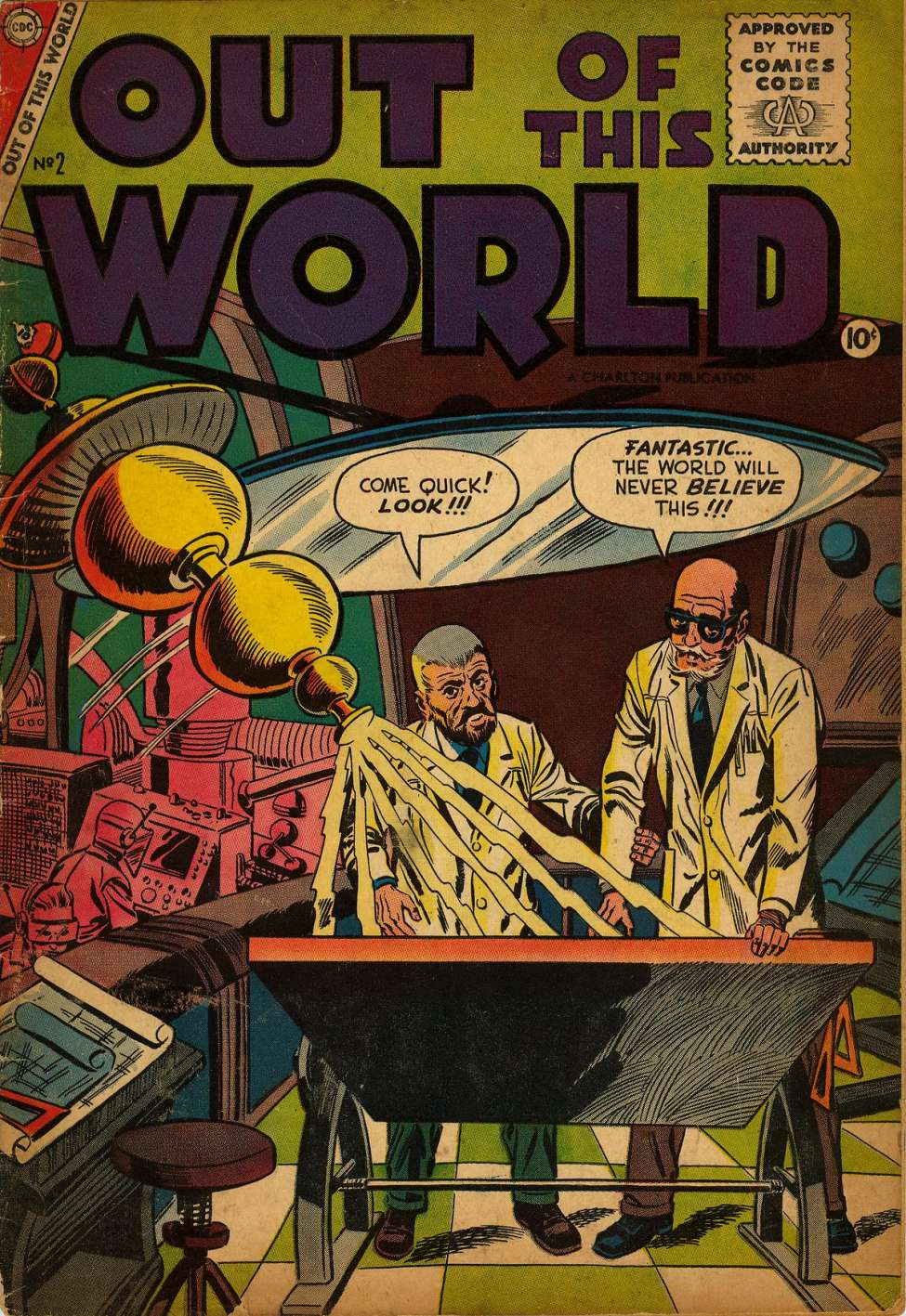 Comic Book Cover For Out of This World #2