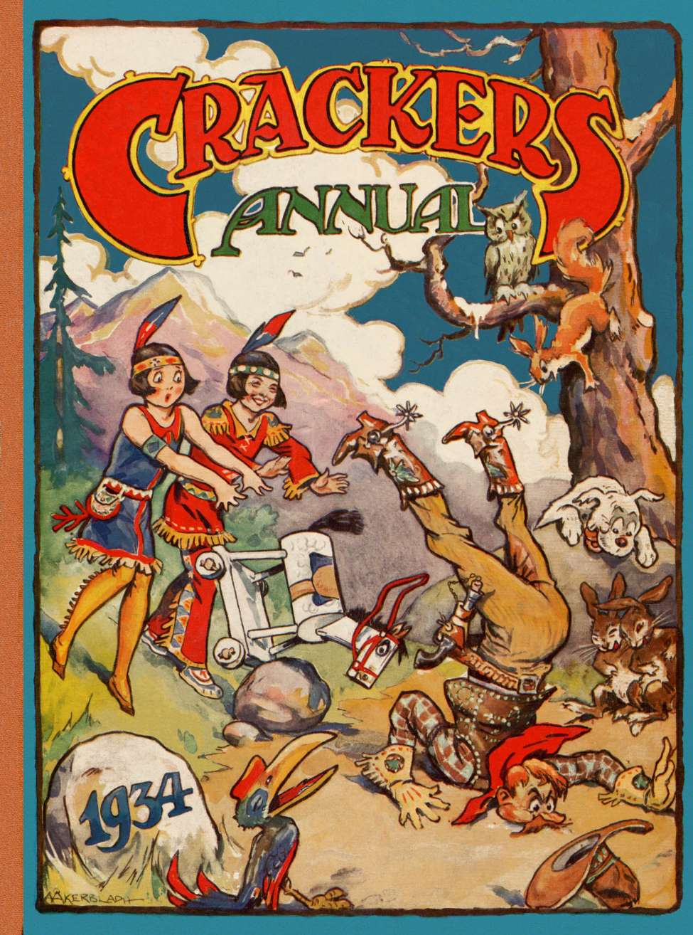 Comic Book Cover For Crackers Annual (1934)