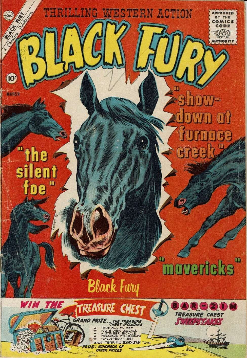 Comic Book Cover For Black Fury #29