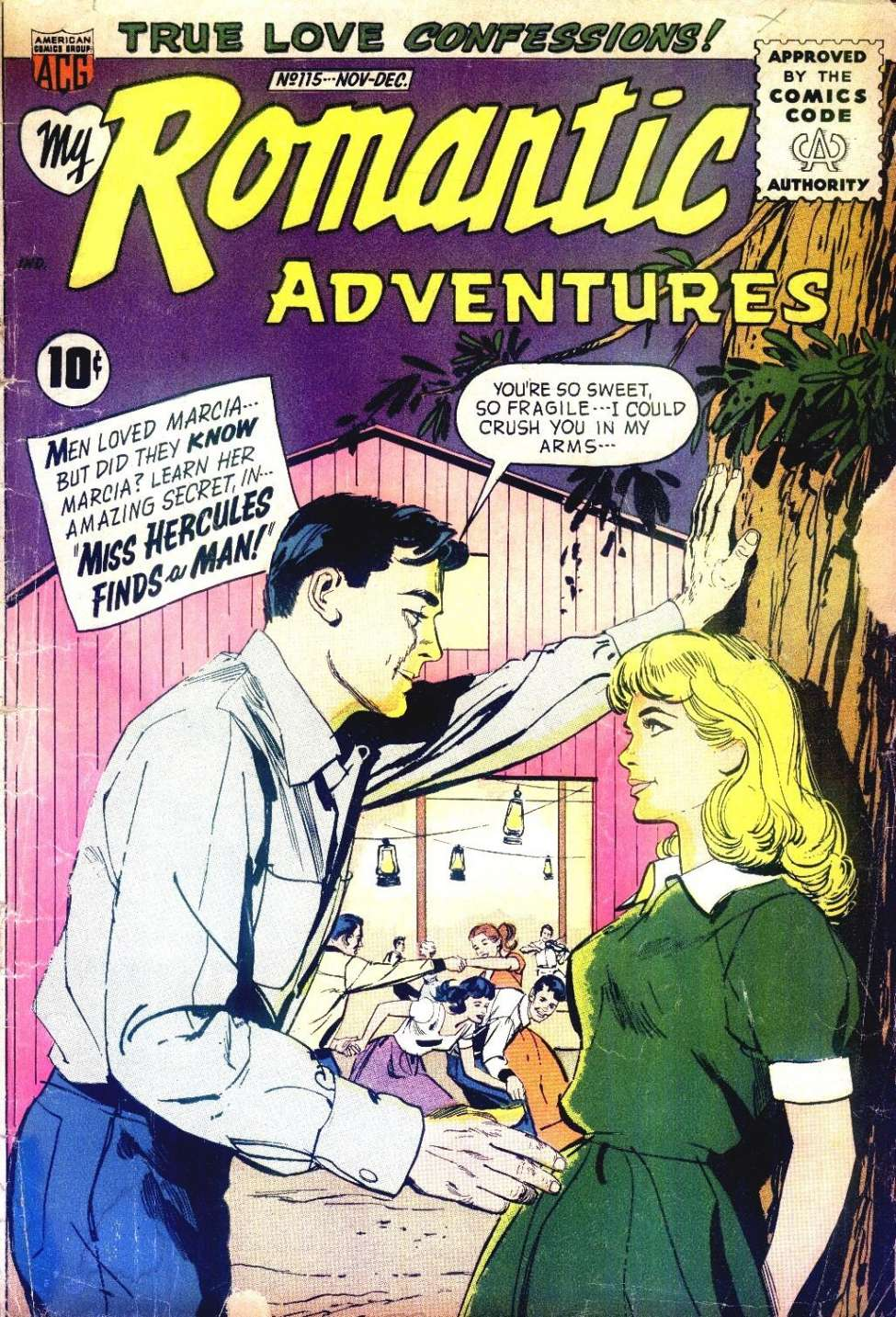 Comic Book Cover For My Romantic Adventures #115