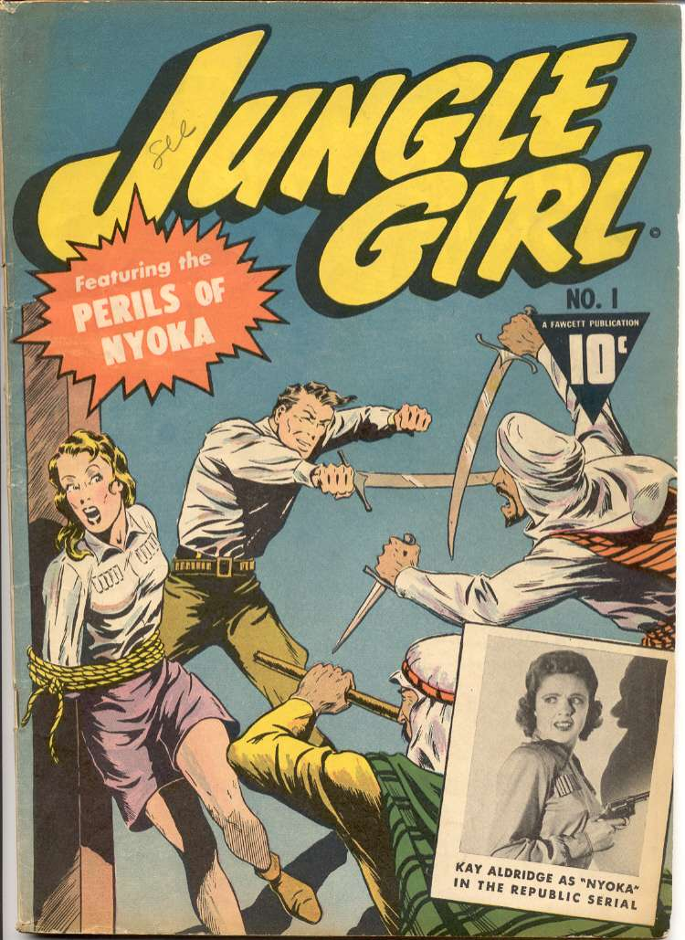 Comic Book Cover For Jungle Girl #1