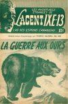 Cover For L'Agent IXE 13 v2 163 La guerre aux ours